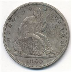 1860 Seated Liberty Half Dollar *AU*