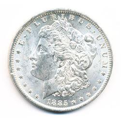 1885-O MORGAN SILVER DOLLAR 63 GRADE QUALITY
