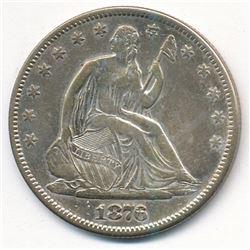 1876 Seated Liberty Half *Very Fine*