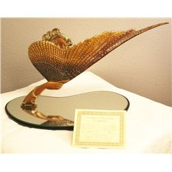 """COQUETTE (BRONZE TABLE MIRROR) BY ARTIST ERTE 12"""" X 16"""" LIMITED EDITION #101 OF 250 COA INCLUDED"""