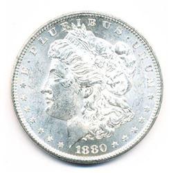 1880-S MORGAN SILVER DOLLAR 64 GRADE QUALITY