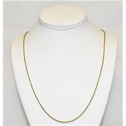 "Beautiful 14k Yellow Gold 24"" Rope Chain Necklace 7.1 Grams"