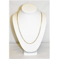 "Yellow Gold 10k 24"" Cuban Curb Chain Link Necklace 7.8 grams"