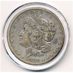 1878-CC HIGHLY COLLECTIBLE MORGAN SILVER DOLLAR VF DETAILS