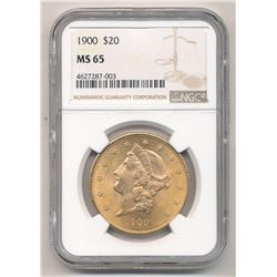 1900 $20.00 Liberty Head Gold NGC MS 65