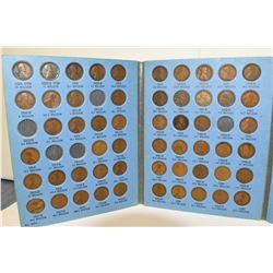 Lincoln Cent Collection Book 1909-1940 (Partially filled)
