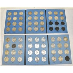 COMPLETE WALKING LIBERTY SILVER HALF DOLLAR COLLECTION 65 COINS 1916-1947