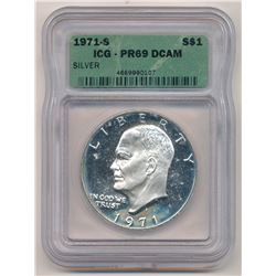 1971-S ICG - PR69 DCAM Eisenhower Dollar Proof