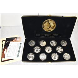 MIKHAIL GORBACHEV LEGACY 12-COIN SILVER COLLECTION 10TH ANNIVERSARY FALL OF THE BERLIN WALL