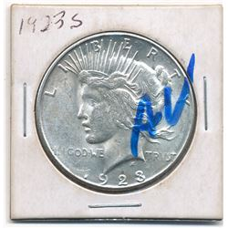 1923-S Silver Peace Dollar (Almost Uncirculated Condition)