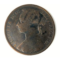 1890 British Penny VF Condition