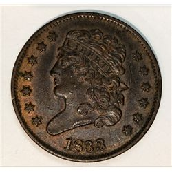 1833 Classic Head Half Cent Uncirculated Condition