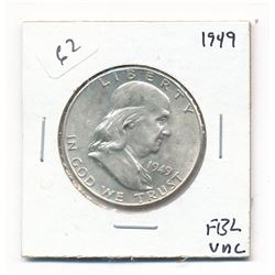 1949 FBL Uncirculated Franklin Half Dollar