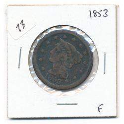 1853 Large Cent (fine)