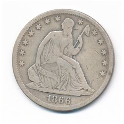 1866-S Seated Liberty Half Dollar (VG+)
