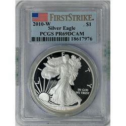2010-W $1 Sliver Eagle PCGS PR69DCAM