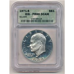 1971-S ICG PR69 DCAM Eisenhower Dollar Proof