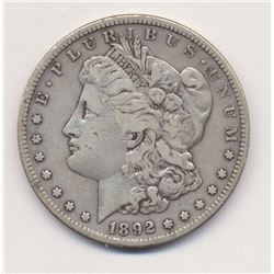 1892-S Very Fine Quality Morgan Silver Dollar