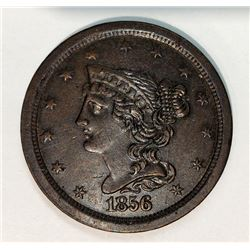 1856 Braided Hair Half Cent Uncirculated Condition