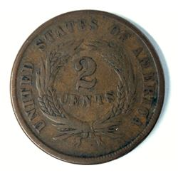 1864 Two Cent Peice Large Motto