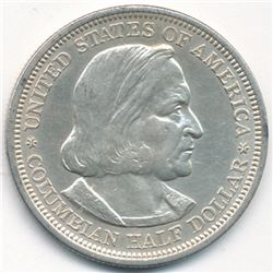 1892 World's Columbian Exposition Silver Half Dollar Excellent Condition (MS63 Quality)