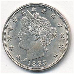 1883 No Cent Liberty Head Nickel MS63+