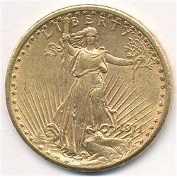 1911 MS63 Quality $20 Double Eagle Saint Gaudens