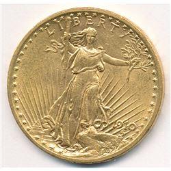 1910 MS64 Quality $20 Double Eagle Saint Gaudens