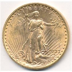 1923 MS63 Quality $20 Doulbe Eagle Saint Gaudens