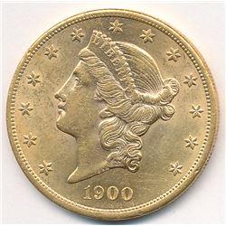 1900 MS62 Quality $20 Gold Liberty (reserve=LLIB)