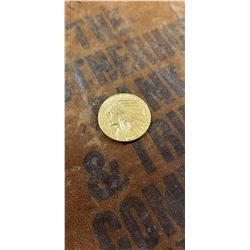 RAW 1914-P AU58 $5 Gold Indian BEAUTIFUL COIN