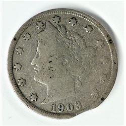 SUPER RARE! MINT ERROR!! 1903 Liberty Nickel