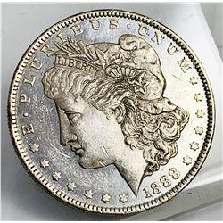 1888 DMPL Deep Mirror Proof-Like Morgan Silver Dollar Very Nice! MS 62
