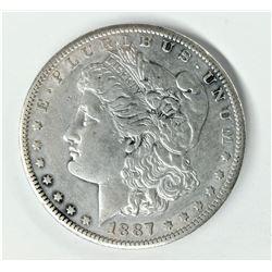 1887-S San Francisco Morgan Silver Dollar AU 58