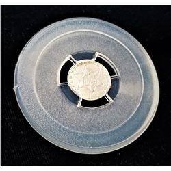 1856 Three Cent Silver AU58+