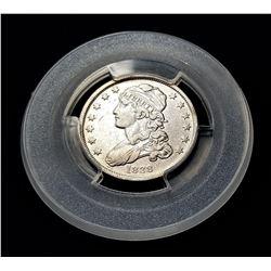 1838 Rare Date Capped Bust Quarter AU58