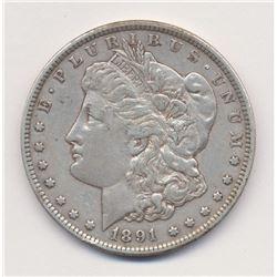 1891-CC (CARSON CITY) MORGAN SILVER DOLLAR
