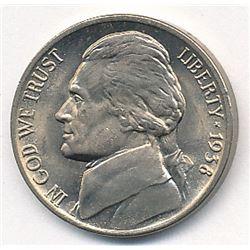 1938 Gem Jefferson Nickel MS65+