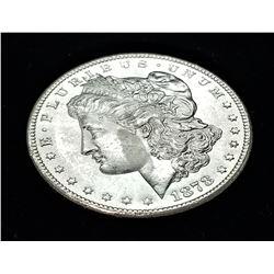 1878-S MS63 DMPL FLATLY STRUCK BUT STUNNING DEEP MIRRORS MORGAN SILVER DOLLAR