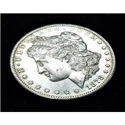 1878-S PLEASING AU58+ MORGAN SILVER DOLLAR