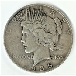 1935-S SAN FRANCISCO PEACE SILVER DOLLAR VF DETAILS