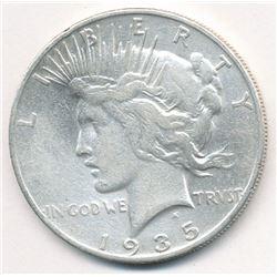 1935-S SAN FRANCISCO PEACE SILVER DOLLAR XF DETAILS