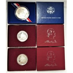 (1) United States Liberty Coin and (2) Commemorative Half Dollar Silver Proof
