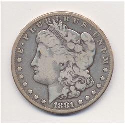 1881-CC Carson City *Fine Quality* Morgan Silver Dollar