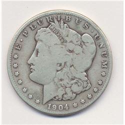 1904-S (San Francisco) Morgan Silver Dollar FINE QUALITY, COLLECTOR DATE
