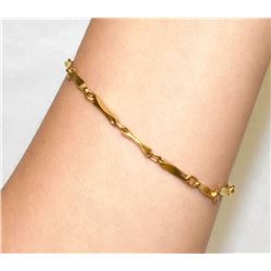 18K Yellow Gold 7  bracelet 7.5grams