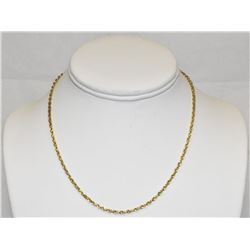 """Yellow Gold 14k Diamond-cut 16"""" rope chain necklace"""