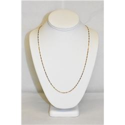 "Tri-Tone 14k Stamped Yellow, White and rose gold 22"" Chain Necklace"