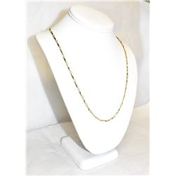 """18K Yellow Gold 22"""" Length Gold chain Linked necklace."""