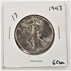 1943-P Walking Liberty Half Dollar AU